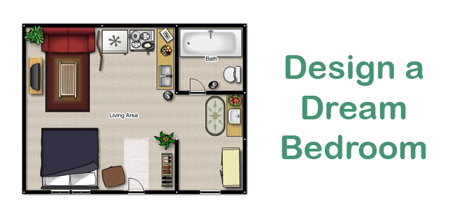 Design a dream bedroom make math more for Make your dream bedroom